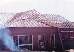 Building the new clubhouse in 1993